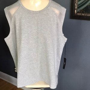 BCBGMAXAZRIA heather gray sweatshirt style top, XL